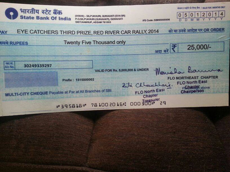 EYE Catchers Prize Money to the winners-at Guwahati, Assam.